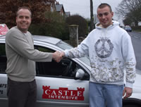 Chris Napier with his instructor Paul